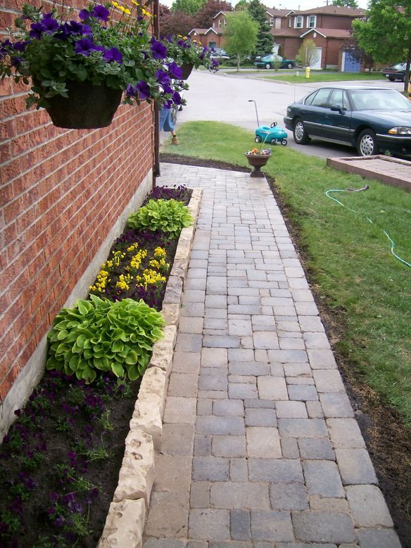 Edging Stone Idea For The Side Of The House Landscape