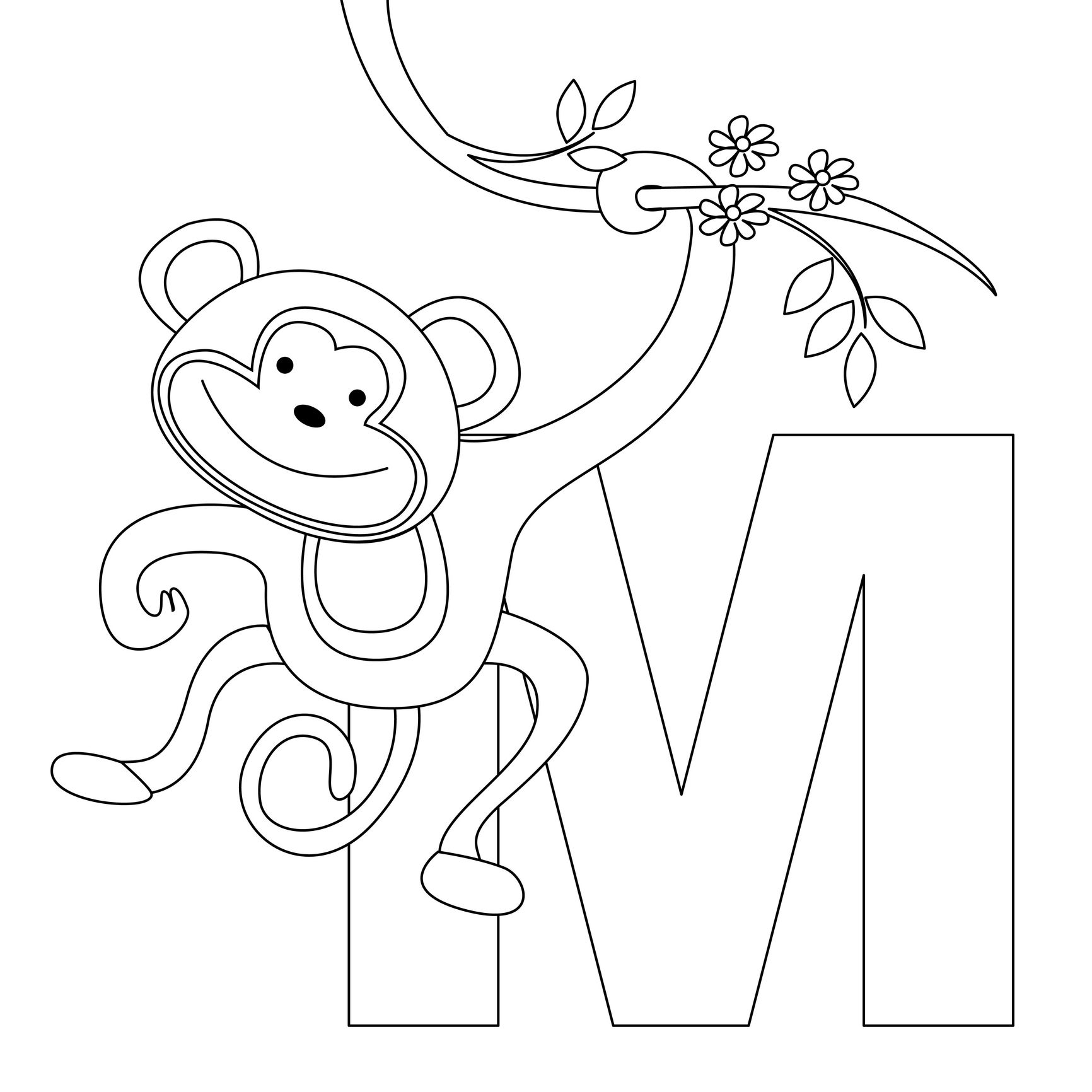 Animal Alphabet Letter M For Monkey Here S A Simple Animal