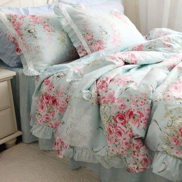 Victorian Blue Rose Bedding Roses Bed Sets