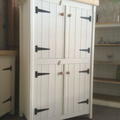 Free Standing Cabinets For Kitchen Floral Curtains Rustic Wooden Pine Freestanding Handmade Cupboard
