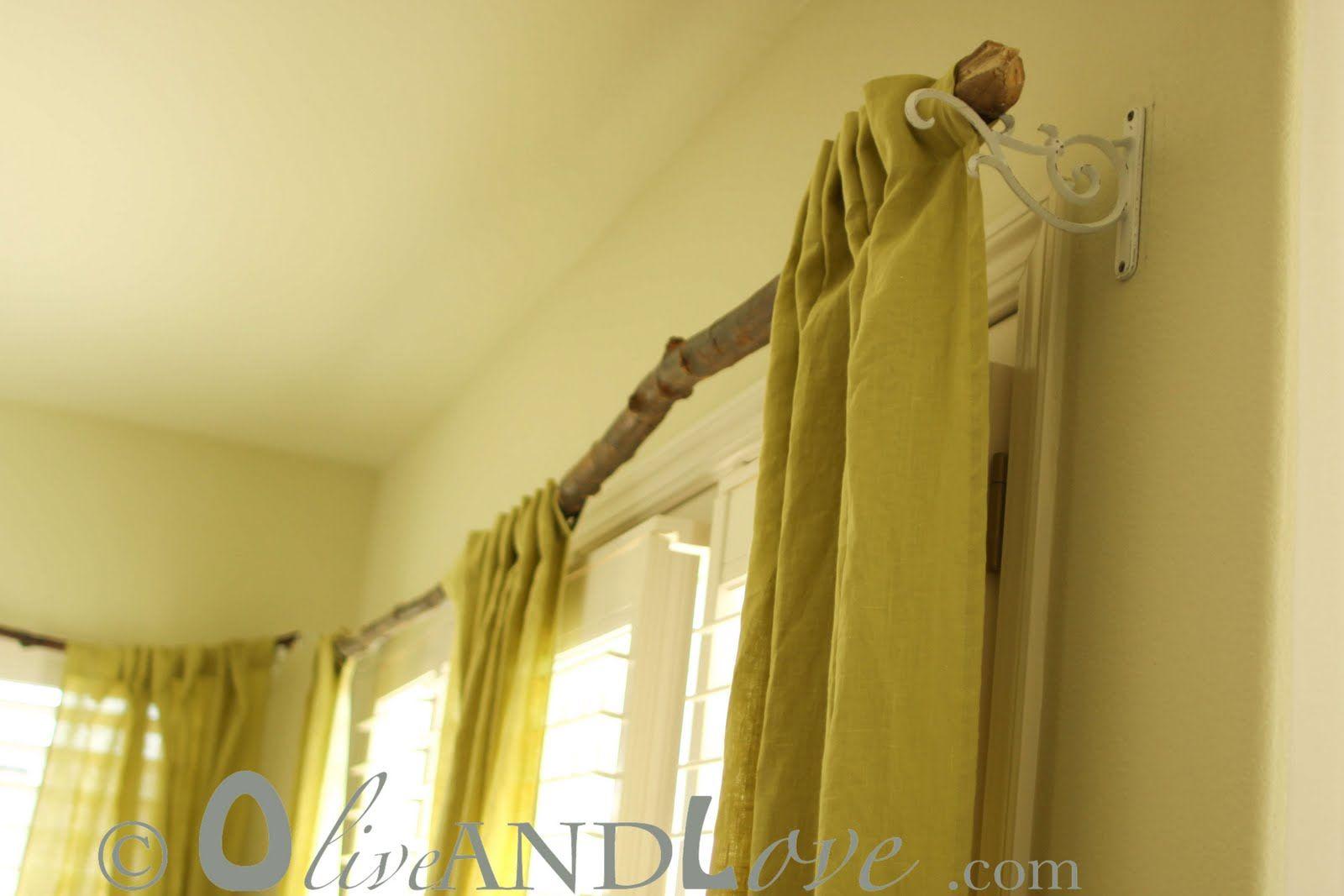 1000 Ideas About Branch Curtain Rods På Pinterest Gardiner Og