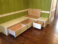Dining Room Bench Seating with Hidden Storage | wood ...