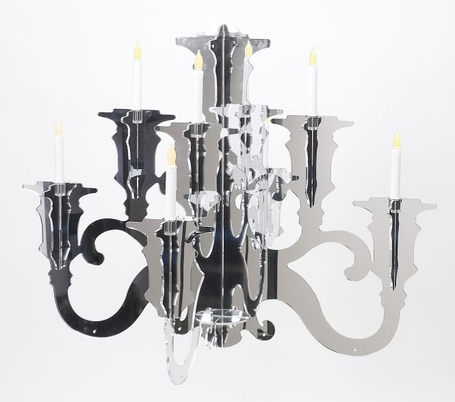 Baroque Acrylic Chandelier Lig38 All Silhouette Five Light Available In Clear