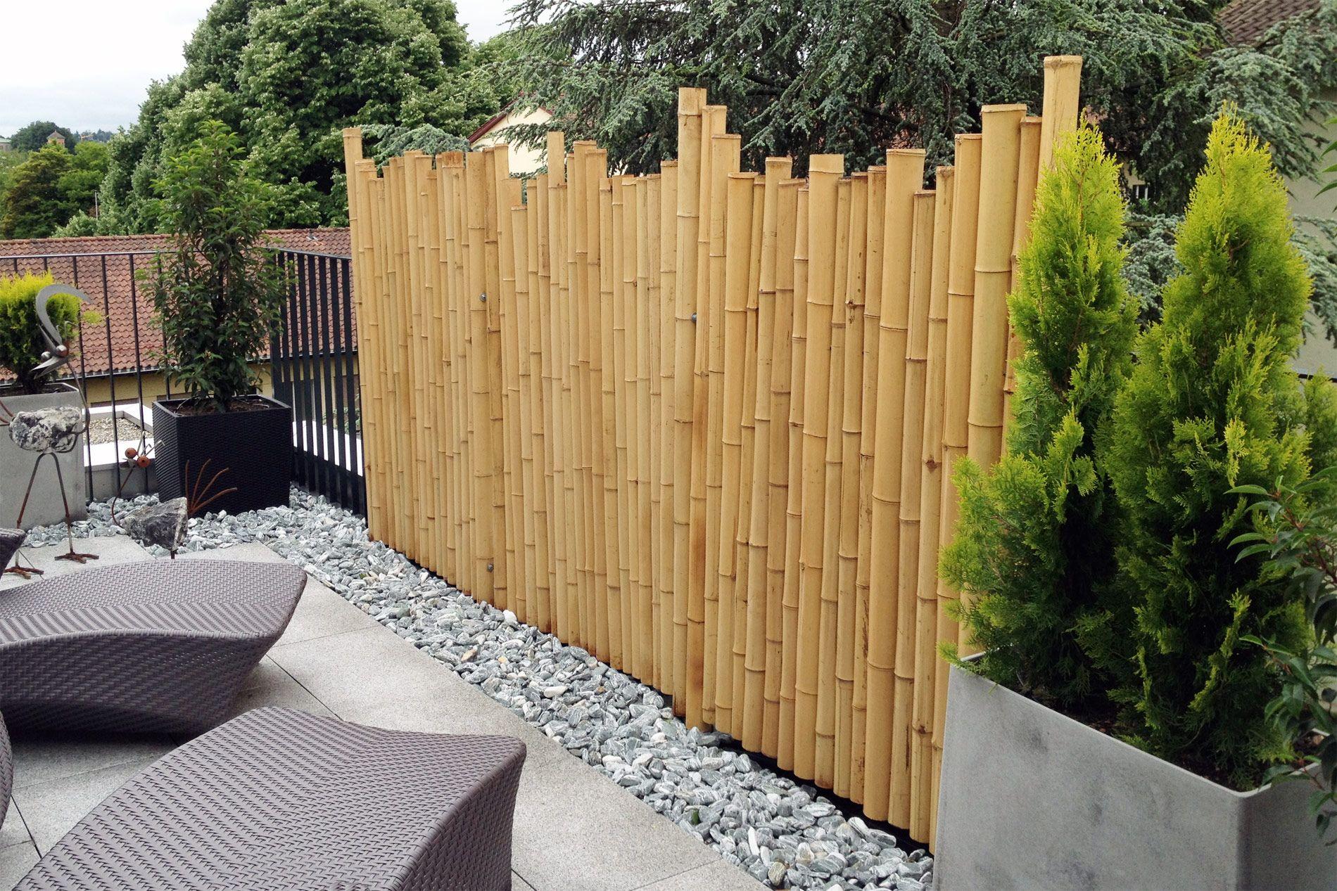 garten sichtschutz bambus bankroute gartengerate ideen