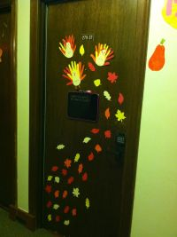 Thanksgiving / fall dorm door decoration | My Drawings ...