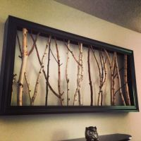 framed tree limbs | Picture frame with tree branches | For ...