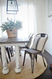 New Rustic Metal And Wood Dining Chairs | Farmhouse table ...