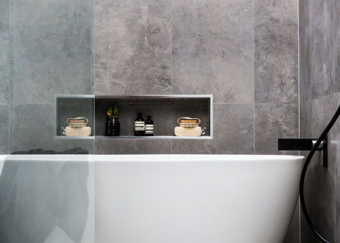 Stunning bathroom design ideas as seen on the block glasshouse featuring beaumont tiles products product information here http www til  also