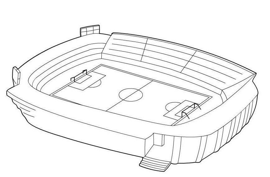 ausmalbilder fußballstadion 1164 Malvorlage Fußball