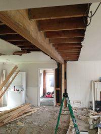 New 21ft beam to replace load bearing wall | Stuff I dig ...