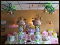 Baby shower Monkey themed | Elegant Balloons | Pinterest ...