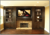 wall entertainment centers with fireplace | Fireplace ...