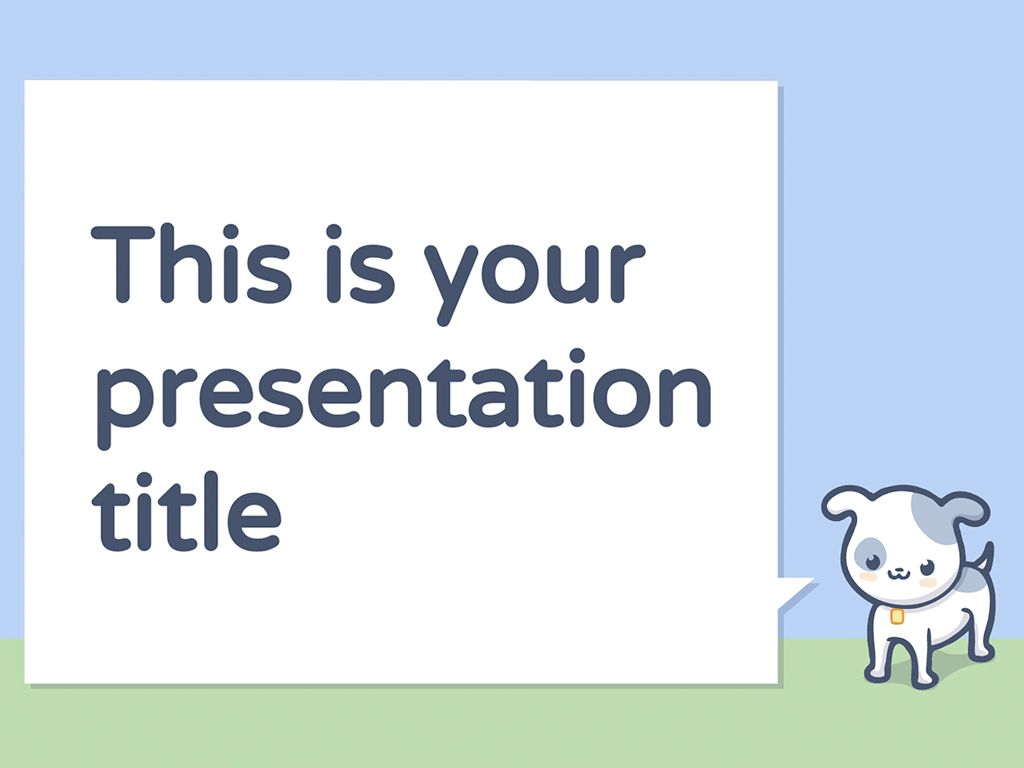 A Free Presentation Template With Cute Pets Illustrations