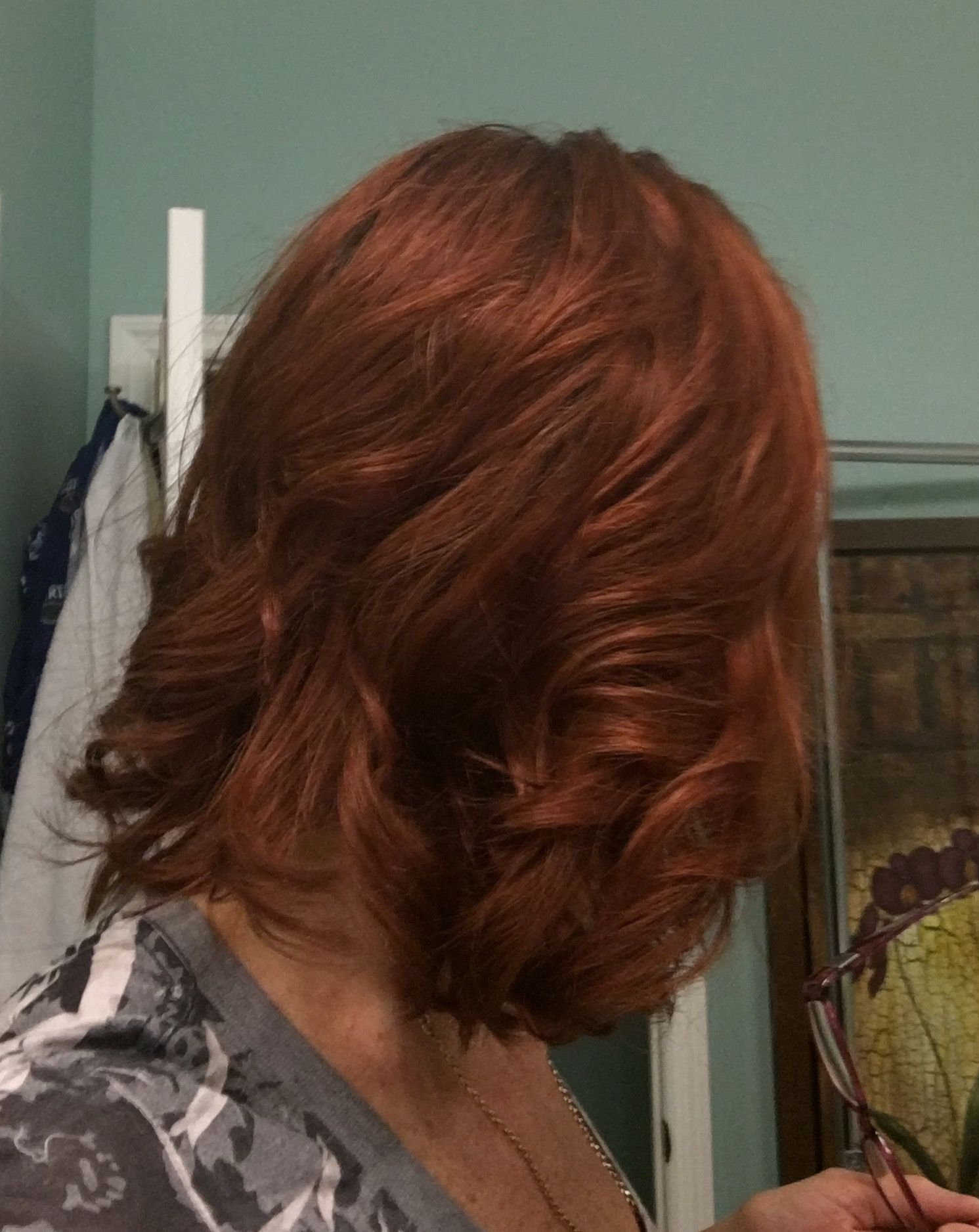Pin by Heddy Z Designs on Hair styles medium hair blond to red