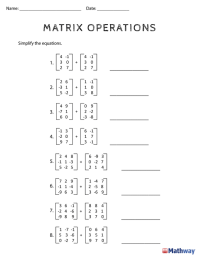 Need practice with 'Matrix Operations'? print out this ...