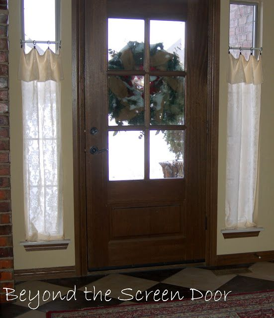 solution for the windows beside the front door love the casual welcoming