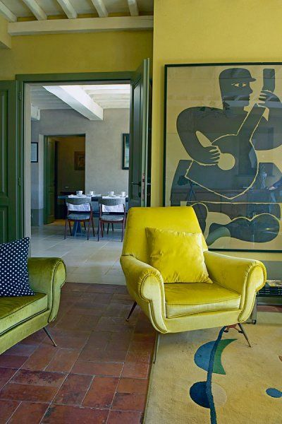 Fromtherightbank yellow walls paint it this color pinterest guest houses interiors and room also rh za