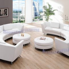 White Leather Sectional Sofa With Ottoman Sears Cleaning Amazon Exclusive Modern Furniture Vip