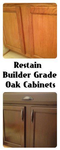 Restain Builder Grade cabinets: General Finishes Gel Stain ...