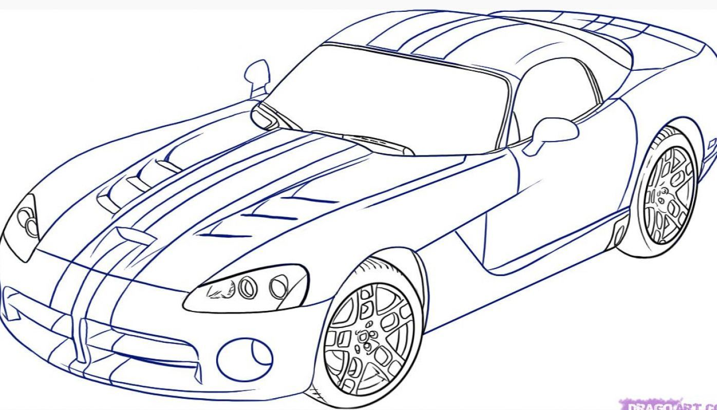 Easy Car Line Drawing Bmw I8 Coloring Page Free Printable Coloring