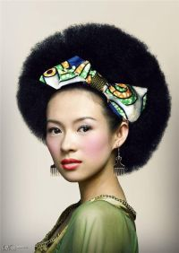 Gorgeous! I want an asian girlfriend with fro hair and ...