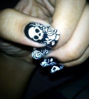 unique skull nail design ideas