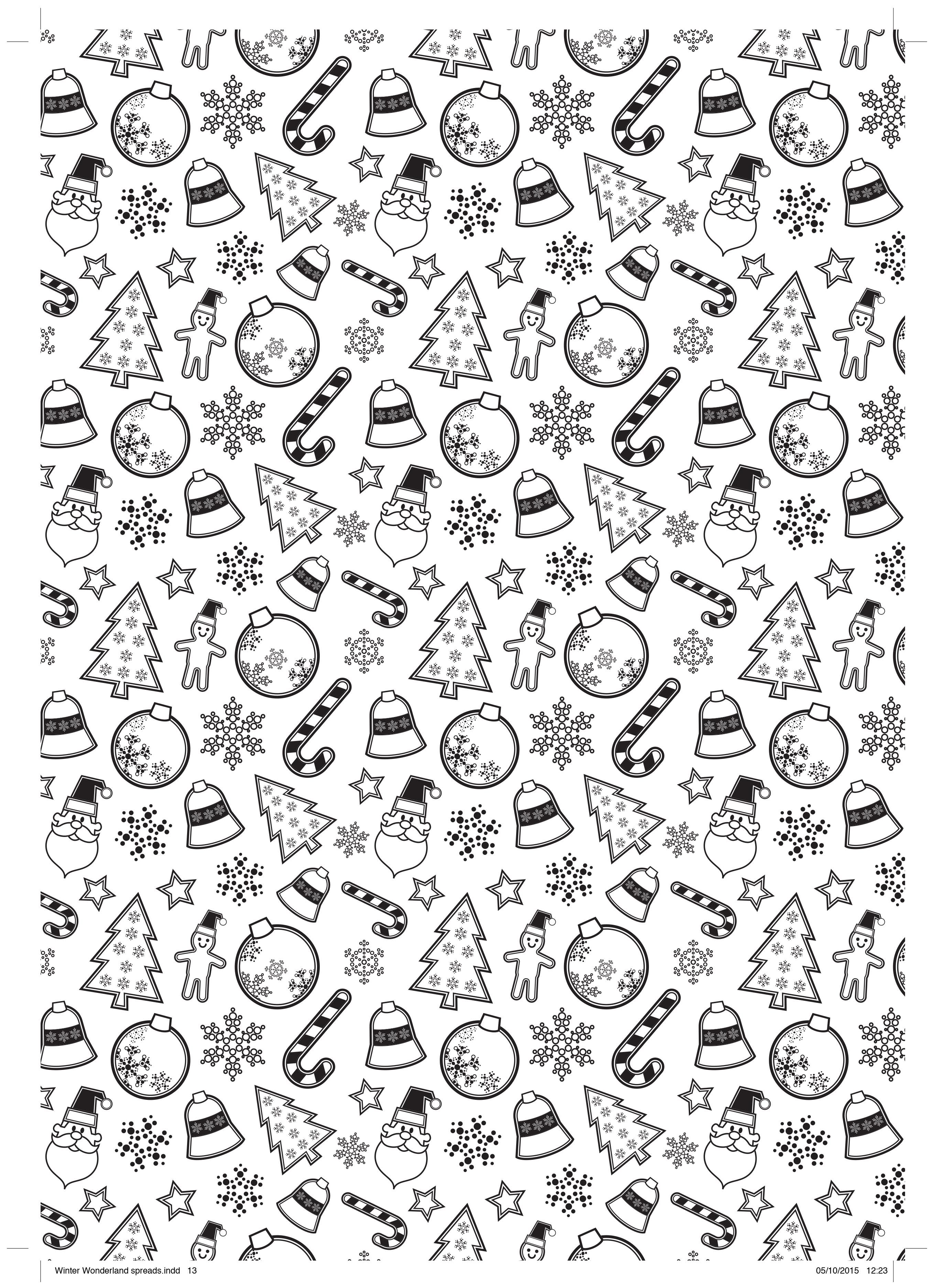 Cute Candy Cane Free Colouring Sheet