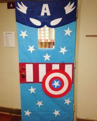 Captain America Classroom Door