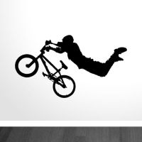 BMX Superman Vinyl Wall Art Sticker / Decal #0112