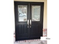 Modern Double Entry Doors. ThermaTru FiberClassic Smooth ...