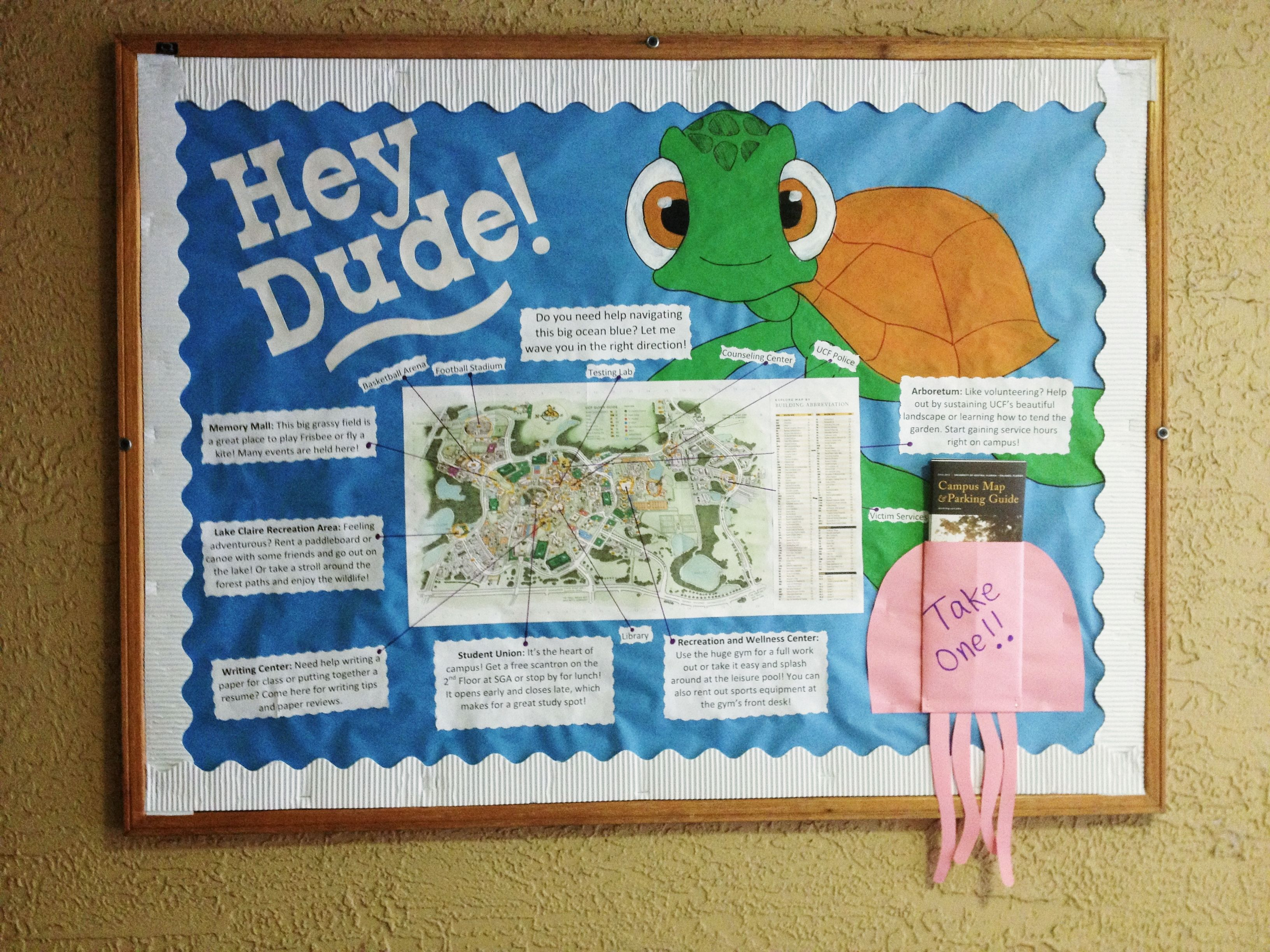 My first RA bulletin board! Goes along with my Finding