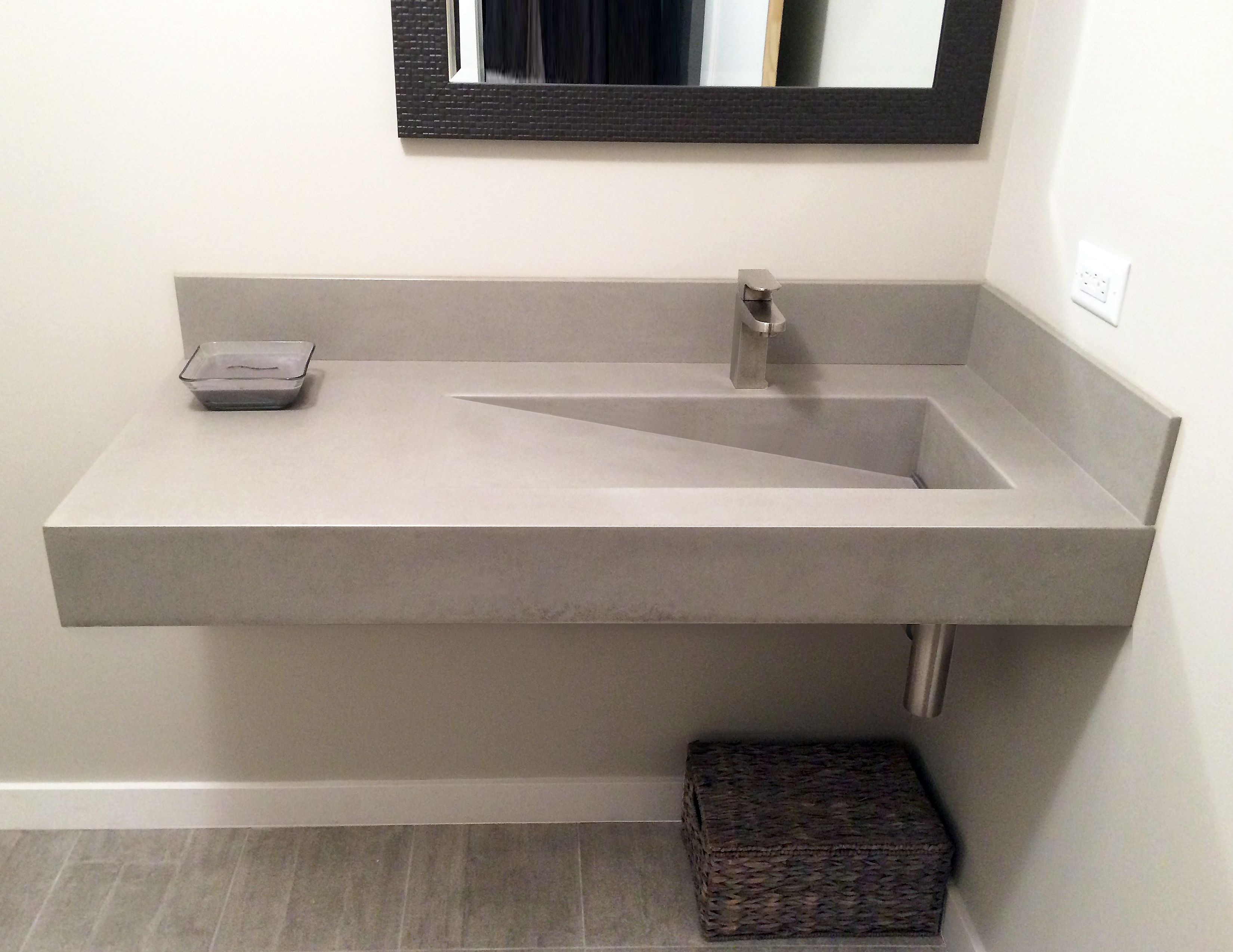 concrete kitchen sink nutri wall hung bathroom with a custom ramp