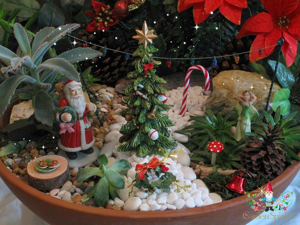 Christmas Fairy Garden In A Pot 2013 Fairy Gardens Pinterest