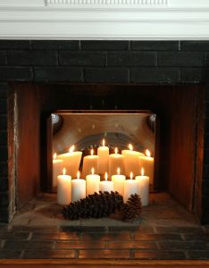 Fireplace candle holder for inside summer decorating ideas your the blog at also rh br pinterest
