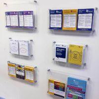 Wall Mounted Acrylic Leaflet Holders | Brochure holders ...