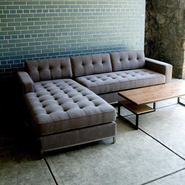 Tufted Sectional Sofa Couch