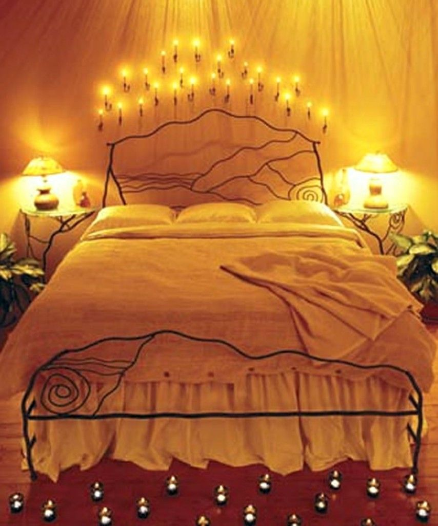Romantic Bedrooms With Candles And Flowers Lpmocj