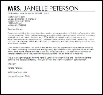 Resignation Letter Template Hostile Work Environment