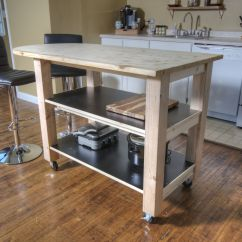 Kitchen Islands With Wheels Reclaimed Wood Island How To Build Diy On