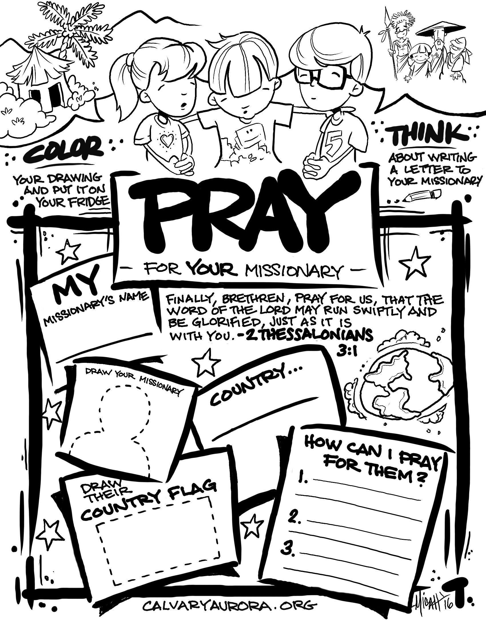 Children S Missionary Prayer Pages