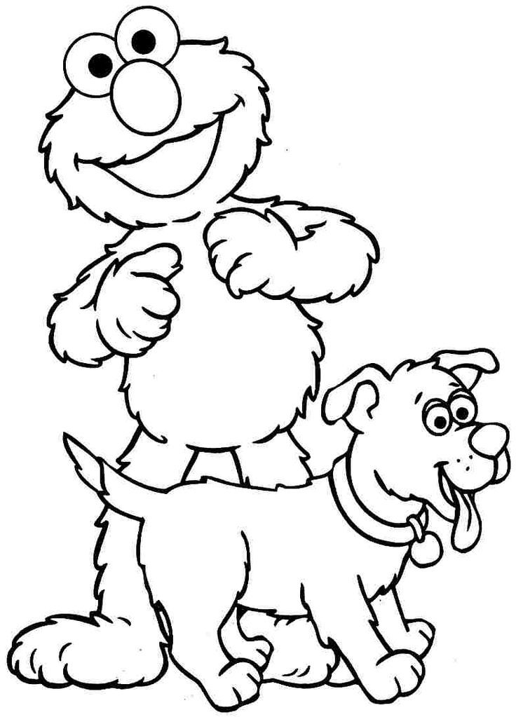 Elmo Coloring Pages: This will make the coloring process