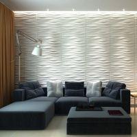 A21064 - Three D Wall Wave Tile Plant Fiber Panel Off ...