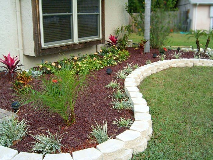 Bed Flower Garden Edging Landscape Edging Design Ideas Flower