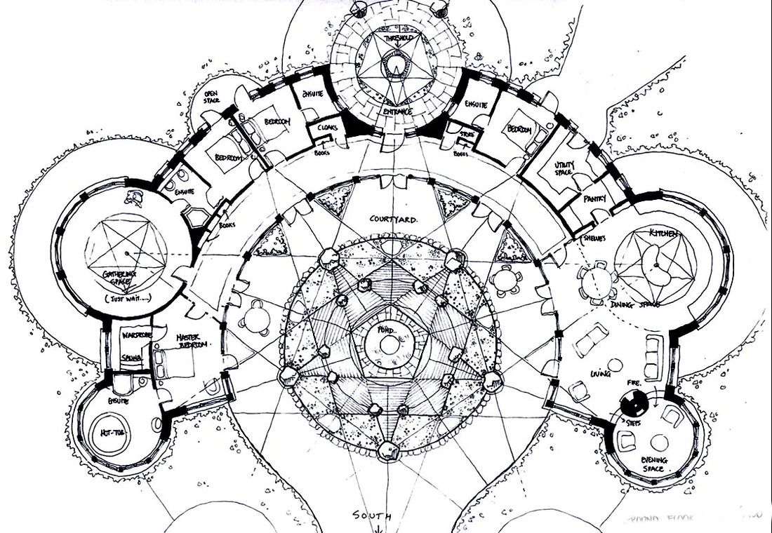 Organic Sacred Geometry House Plans