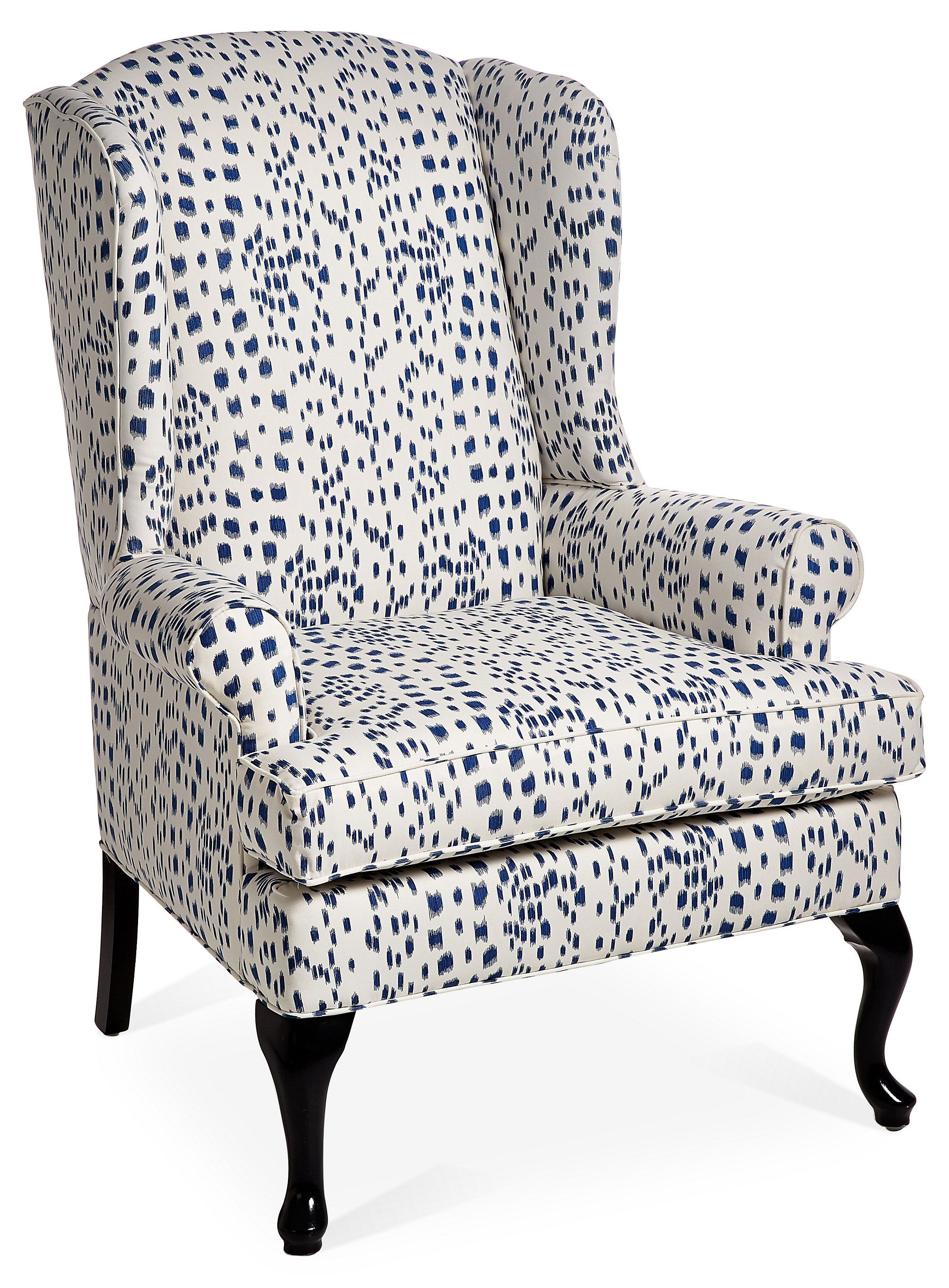 Blue And White Chair The Classic Wingback Chair Gets A Modern Update With