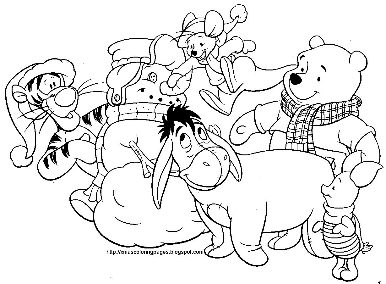 Disney Christmas Coloring Pages Coloring Pages Pinterest