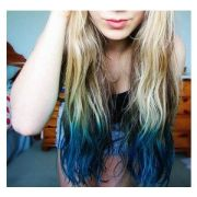 turquoise teal human hair extensions