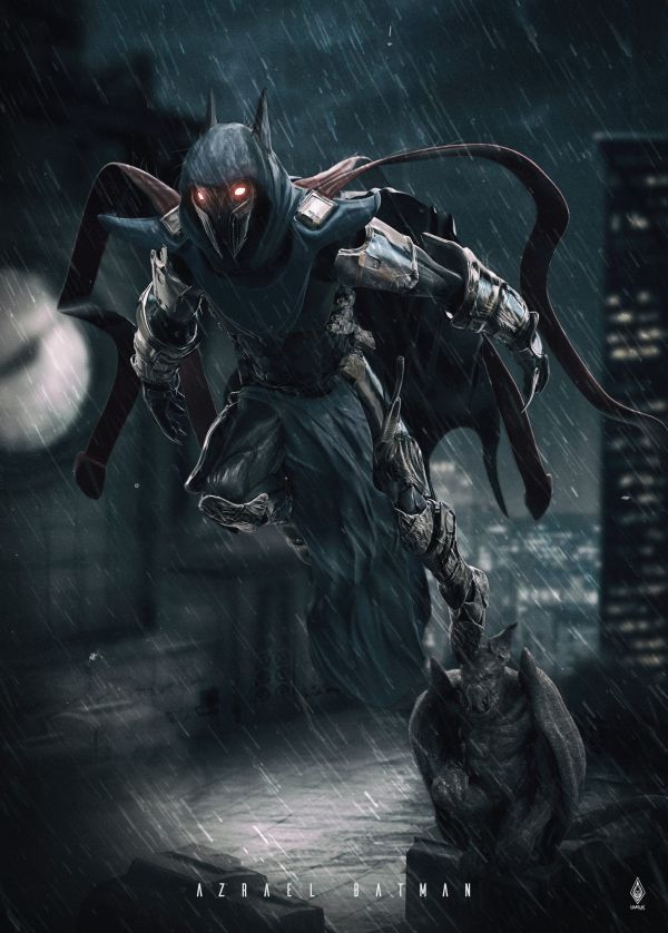 Artstation - Batman Azrael Limkuk Art 3d Characters And Comic