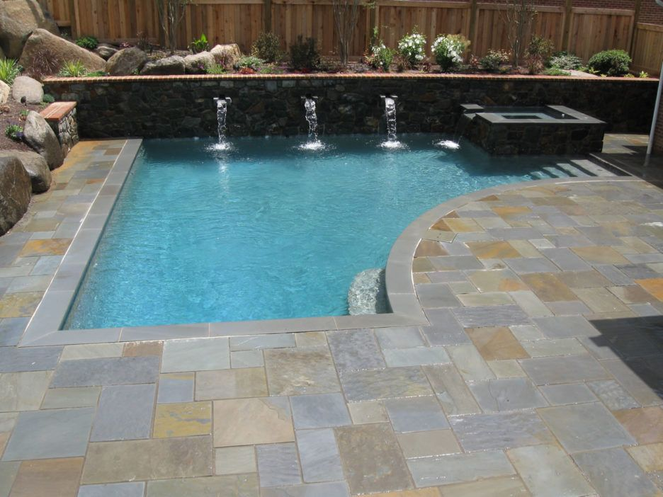 Captivating Pool Design Ideas Features Curve Shape