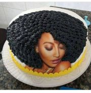 afro inspired cake birthday